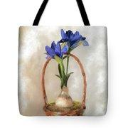 Plain Blue Iris Tote Bag