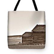 Plains Homestead Sepia Tote Bag