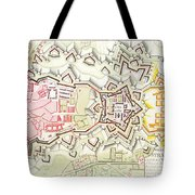 Plan Of Part Of The City And Citadel Of Strasbourg Tote Bag