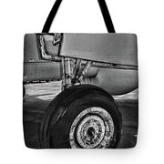 Plane - Landing Gear In Black And White Tote Bag