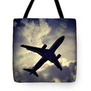 Plane Landing In London Tote Bag