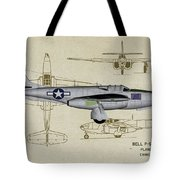 Planes Of Fame A-59 Airacomet - Profile Tote Bag