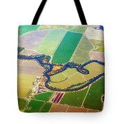 Planet Art Colorful  Midwest Aerial Tote Bag