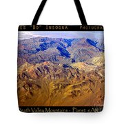 Planet Art Death Valley Mountain Aerial Tote Bag