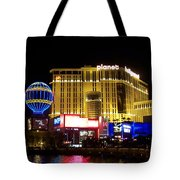 Planet Hollywood By Night Tote Bag
