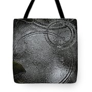 Planetary Intersection In A Puddle Tote Bag