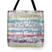 Plans I Have For You Stripes Tote Bag