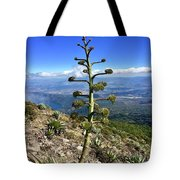 Plant On Volcano Slope Tote Bag