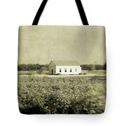 Plantation Church - Sepia Texture Tote Bag
