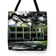 Plantation Framed By Live Oaks Tote Bag
