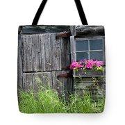Planter On Log Barn Tote Bag