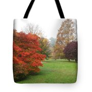 Planting Fields Red Tree Tote Bag