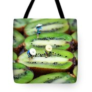 Planting Rice On Kiwifruit Tote Bag by Paul Ge