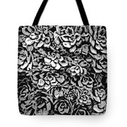 Plants Of Black And White Tote Bag