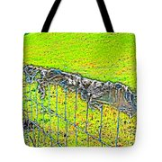 Plastic Sheeting On Fence Tote Bag