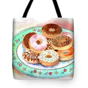 Plate Of Donuts Tote Bag