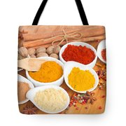Plates Of Spices  Tote Bag