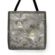 Platinum Feathers, Peacock Feathers Home Fashion Tote Bag