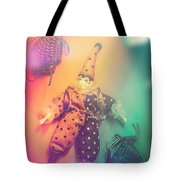 Play Act Of A Puppet Clown Performing A Sad Mime Tote Bag