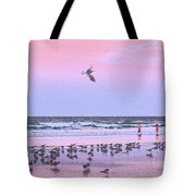 Play At The Beach Tote Bag