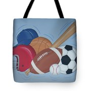 Play Ball Tote Bag by Valerie Carpenter
