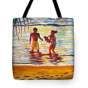 Play Day At Jobos Beach Tote Bag