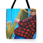 Play It Mr Sax Man Tote Bag