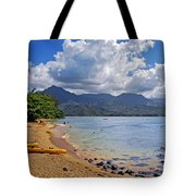 Play Time In Princeville Tote Bag