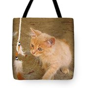 Play Time With Kitty Tote Bag