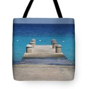 Playa Azul Dock Tote Bag