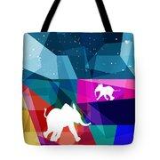 Playful Baby Elephant Tote Bag