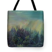 Playful Colorful Morning Tote Bag