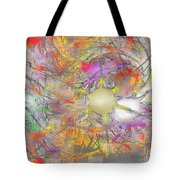 Playful Colors Of Energy Tote Bag