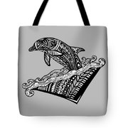 Playful Dolphin Zentangle Tote Bag