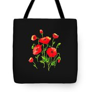 Playful Poppy Flowers Tote Bag