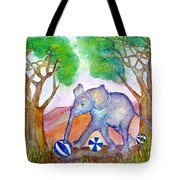 Playing By The Baobab Tree Tote Bag