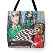 Playing Checkers Tote Bag