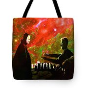 Playing Chess With Death Tote Bag