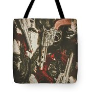 Playing Cowboys And Indians Tote Bag