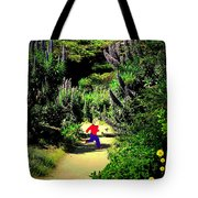 Playing In The Garden Five Tote Bag