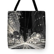 Playing In Traffic Blackout Tote Bag