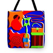 Playing Music Tote Bag