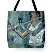 Playing The Flute Tote Bag