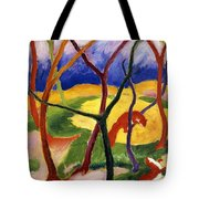 Playing Weasels Tote Bag