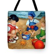 Playtime At The Beach Tote Bag