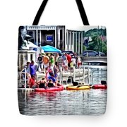 Playtime On The River Tote Bag