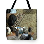 Playtime With Bunny Tote Bag