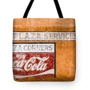 Plaza Corner Coca Cola Sign Tote Bag