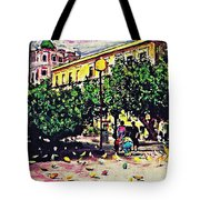 Plaza In Murcia Tote Bag