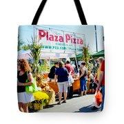 Plaza Pizza Tote Bag